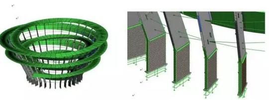 螺旋体钢结构revit结构模型